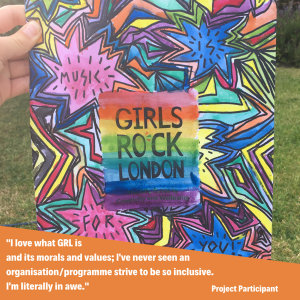 Girls Rock London card